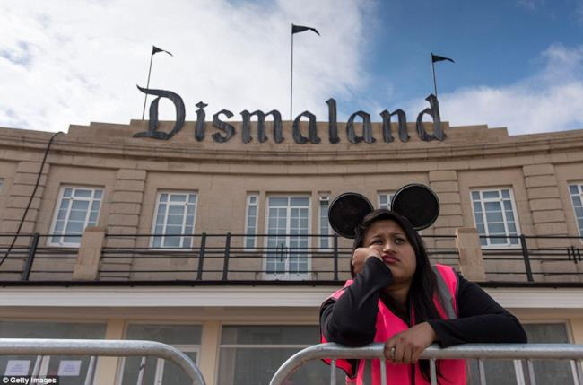 Personale annoiato a Dismaland @GettyImages