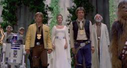 La scena finale di Star Wars: Episodio IV - Una nuova speranza