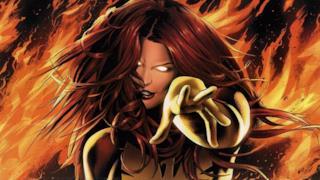 Jean Grey si trasforma in Fenice Nera in un'immagine dal fumetto