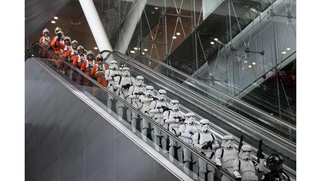 Schieramento Star Wars all'aeroporto di Singapore