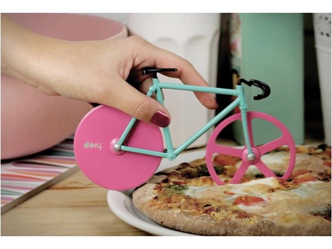 Bicicletta per tagliare la pizza