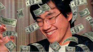Toriyama in un bagno di soldi
