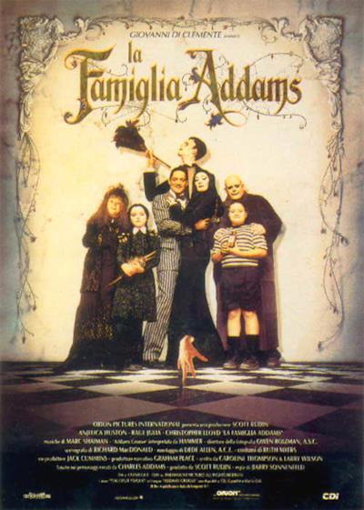 La locandina de La famiglia Addams