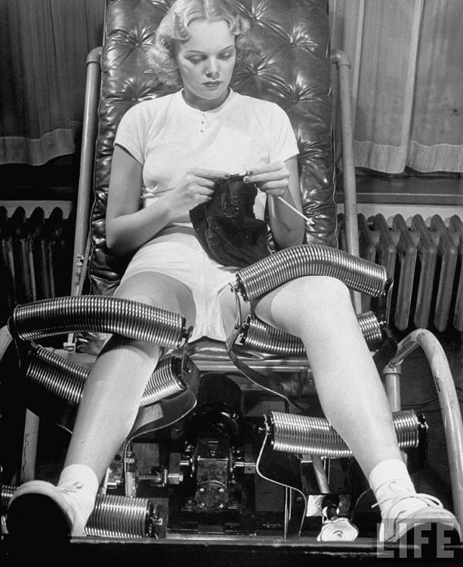 Immagine che raffigura un primitivo macchinario anti cellulite