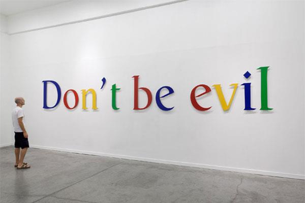 Il motto 'Don't Be Evil' è stato rimosso dal Codice di Condotta Google
