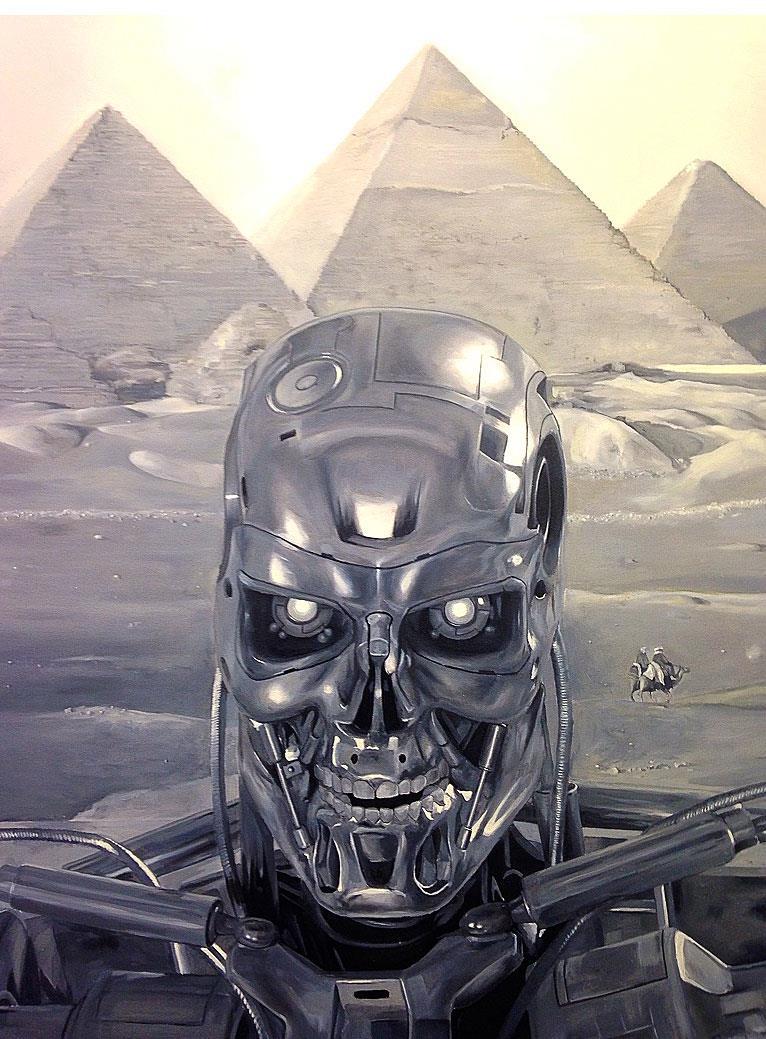 KATSU Selfie di Terminator alla mostra Remember The Future