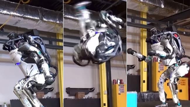 Atlas fa un salto mortale all'indietro