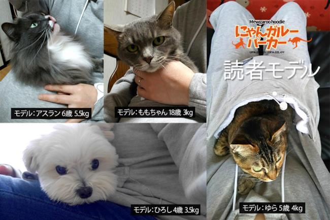Esempi d'uso della felpa con tasca per animali