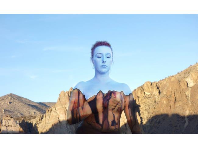 Body paint colore blu