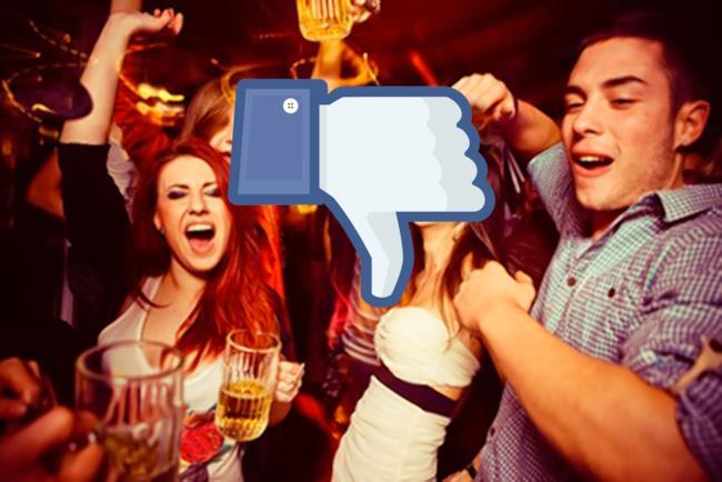 Gruppo di giovani ubriachi e un dislike di Facebook