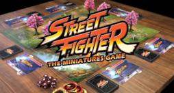 Il gioco da tavolo di Street Fighter allestito