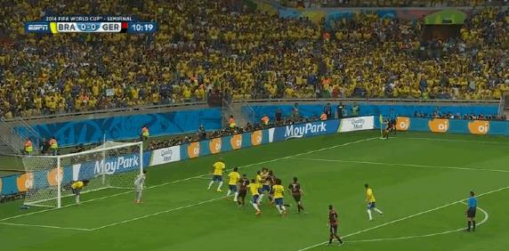 Il primo goal di Thomas Muller contro il Brasile