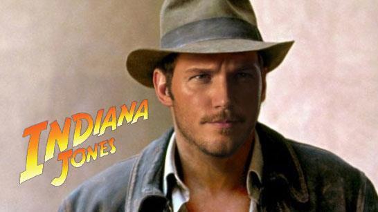 Chris Pratt nei panni di Indiana Jones in una fanart
