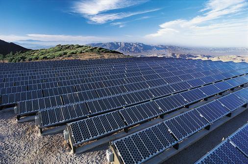 Foto aerea dei pannelli solari