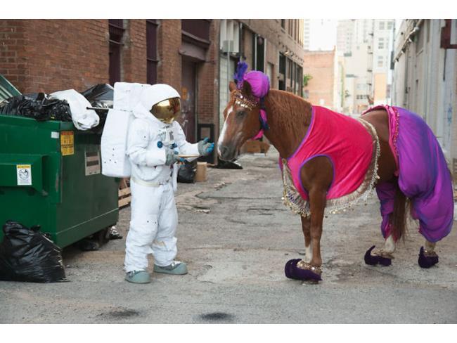Un astronauta e un cavallo