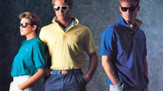 Tre uomini in abiti Apple