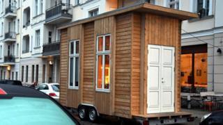 Una delle minicase affittabili a Berlino