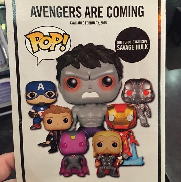 L'Hulk grigio in alcuni gadget di Avengers: Age of Ultron