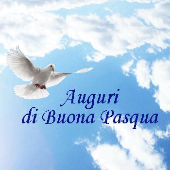 Una colomba che vola - Immagini animate di auguri di Buona Pasqua