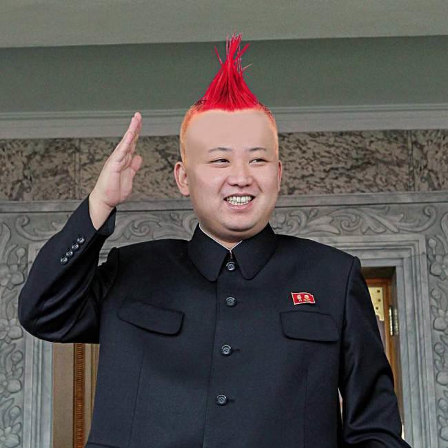 Kim Jong-il con una cresta punk