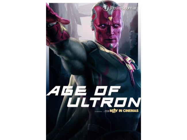 Poster promozionale della Visione in Age of Ultron