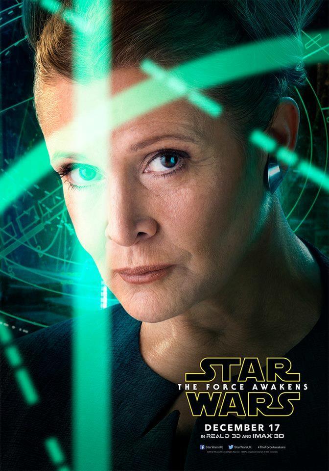 Il character poster di Star Wars 7 con Leia