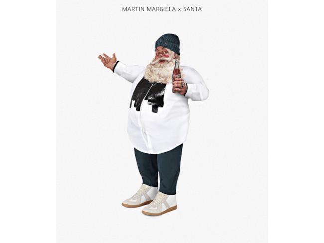 Babbo Natale vestito in stile Martin Margiela