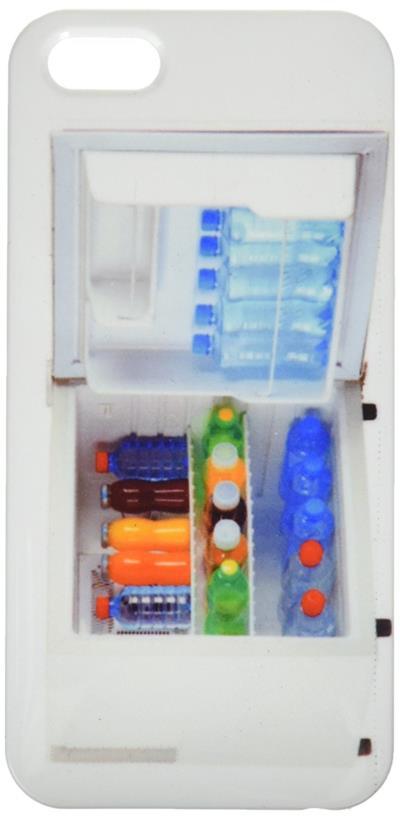 Cover per smartphone raffigurante un frigo pieno di bibite