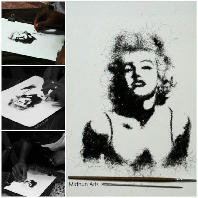 Marilyn Monroe realizzate con i capelli