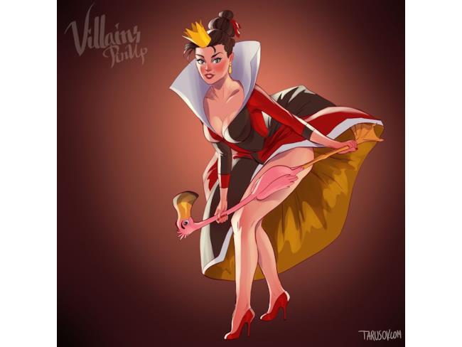 La Regina di Cuori in versione pin-up