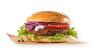 La foto di un hamburger