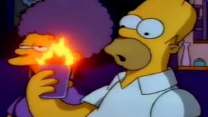 Homer Simpson in una scena della serie