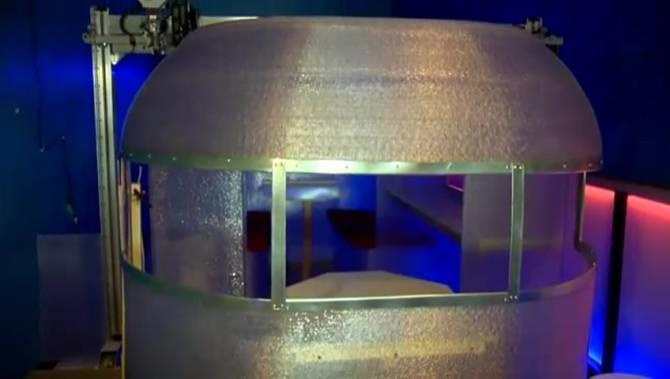 L'esterno del camper stampato in 3D