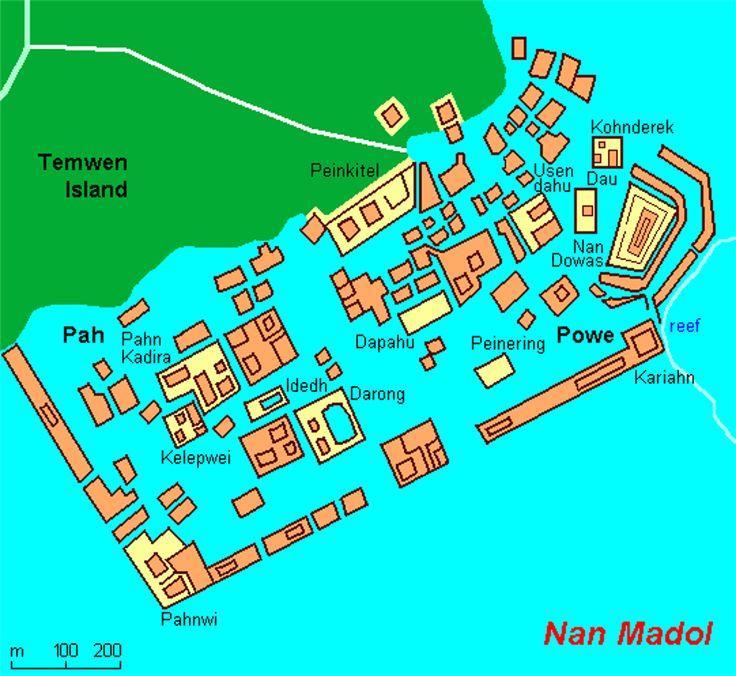 la mappa di Nan Madol