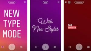 I 4 nuovi font di Instagram