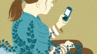 Illustrazione satirica di John Holcroft sugli smartphone