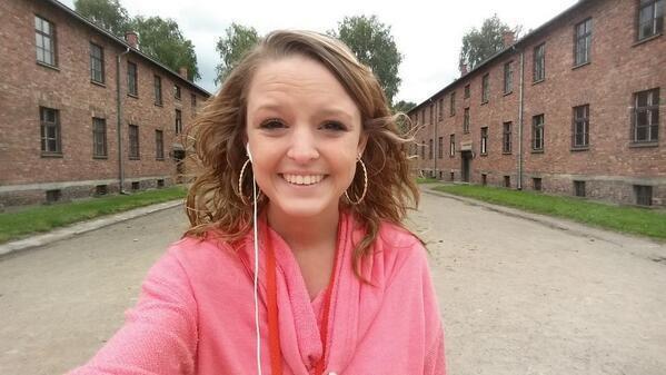 Selfie ad Auschwitz