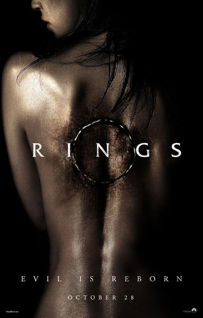 Locandina del prossimo Rings con donna di schiena