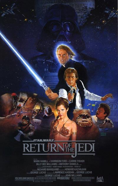 La locandina de Il ritorno dello Jedi