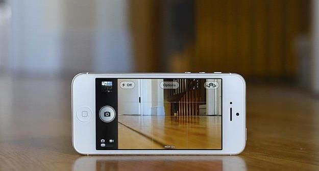 la griglia sull'app foto iPhone