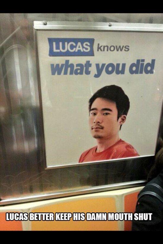 Lucas sa quello che hai fatto