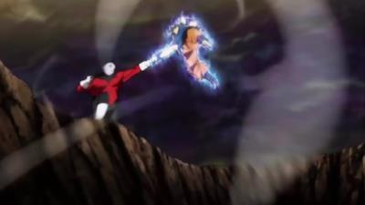 Goku si scontra violentemente con Jiren