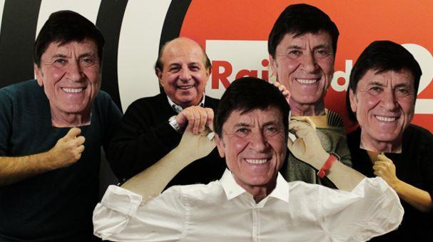 Giancarlo Magalli e la foto con i finti Gianni Morandi