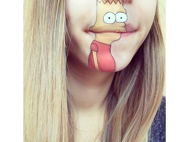 Bart Simpson make up