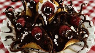 Waffles dentati ispirati ai mostri