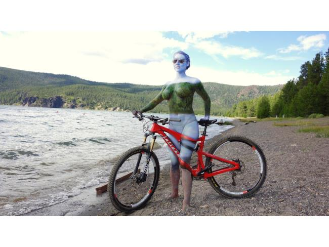 Bicicletta body paint