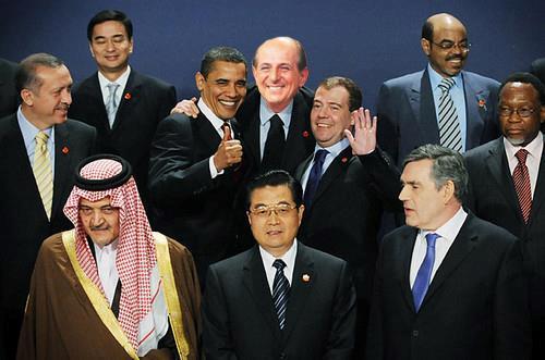 Magalli in una foto dei supporter che lo vogliono presidente