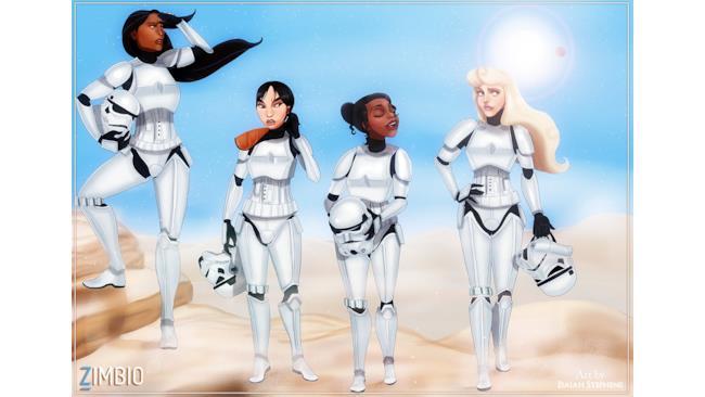 Le Principesse Disney nel ruolo di Stormtroopers