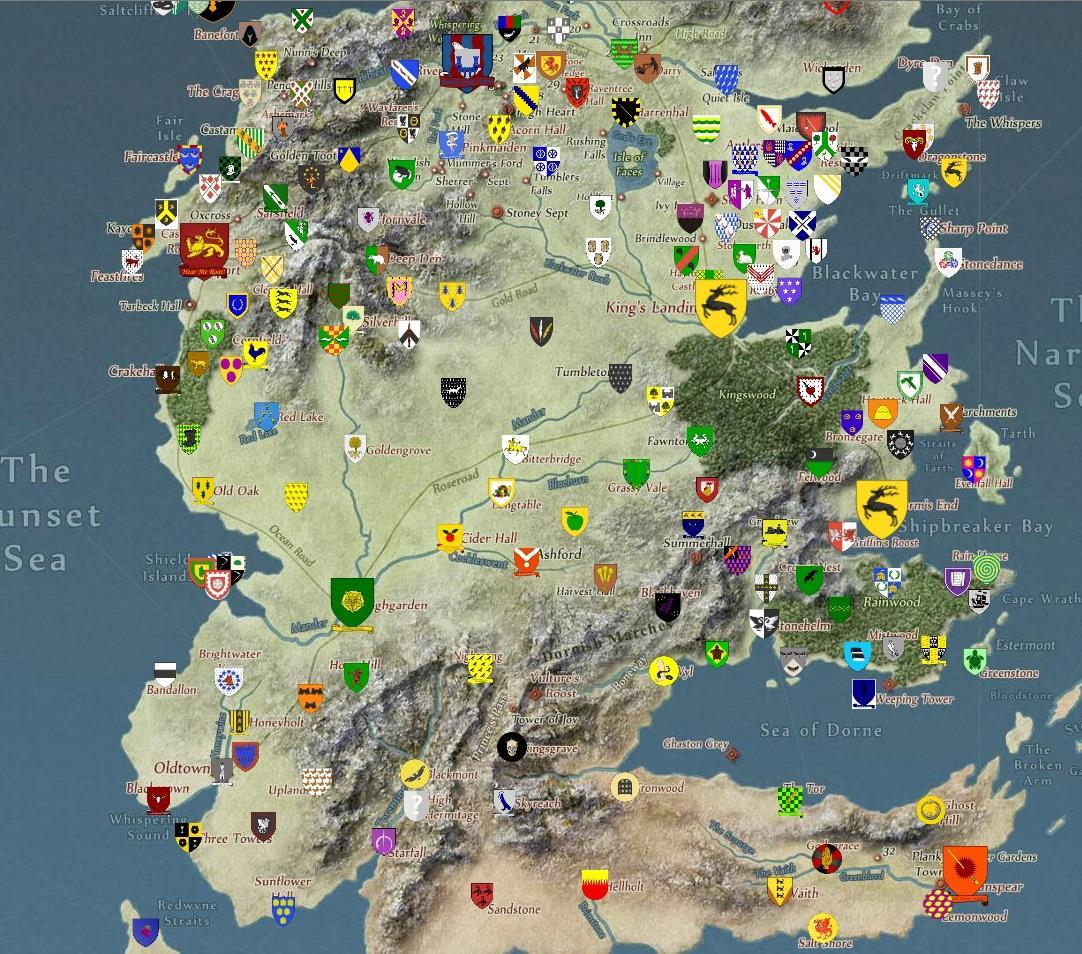Mappa interattiva di Westeros