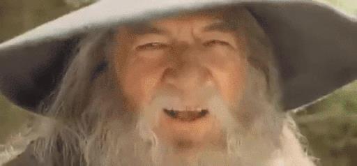 La gif di Gandalf
